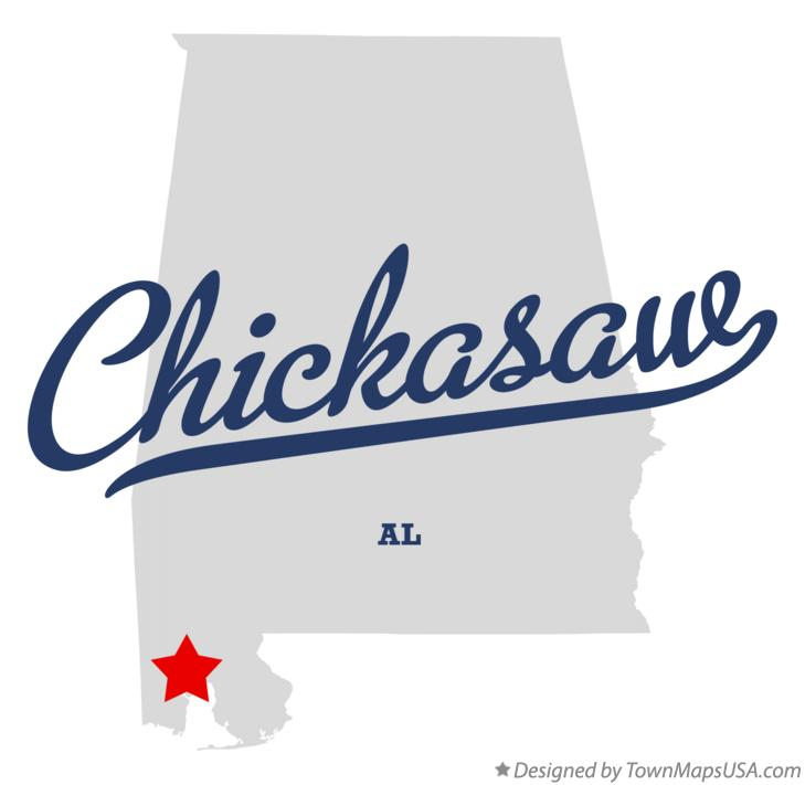 Map of Chickasaw Alabama AL