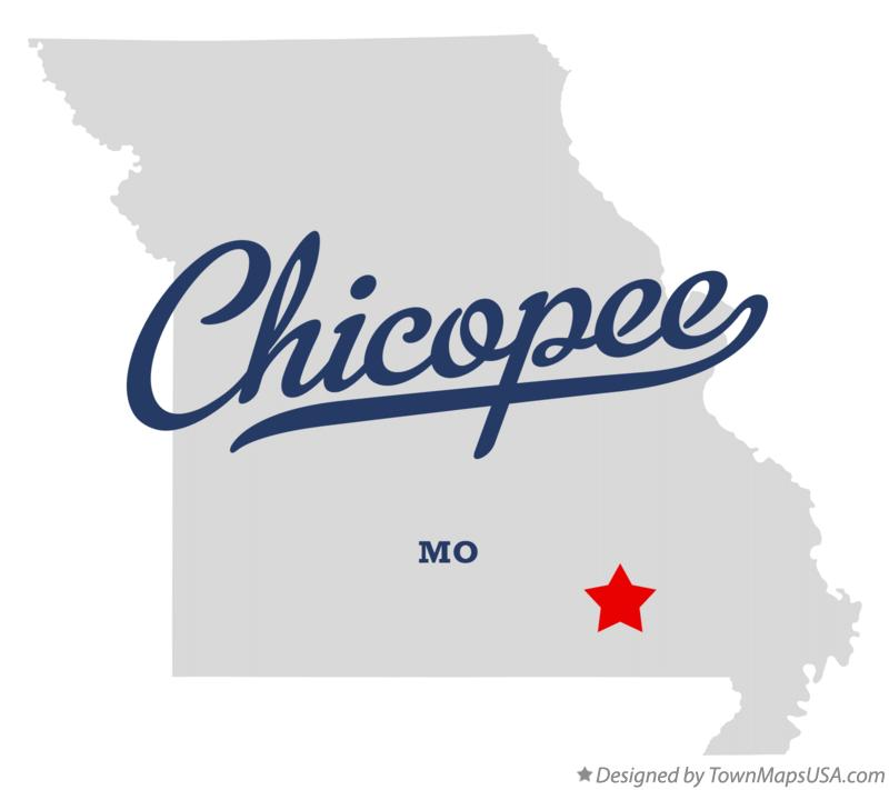 Map of Chicopee Missouri MO