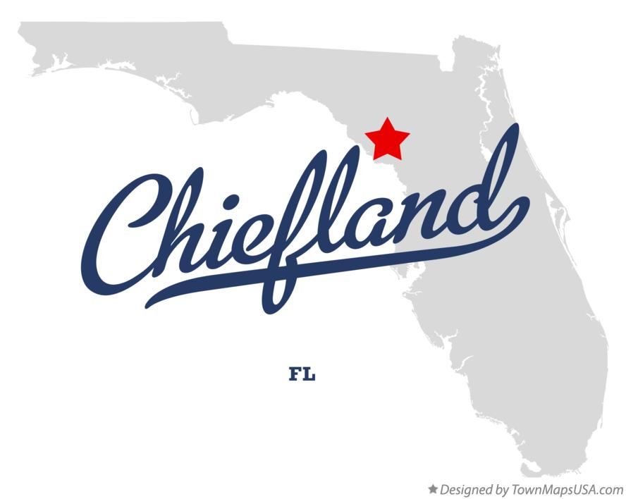 Map of Chiefland Florida FL