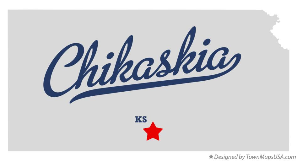 Map of Chikaskia Kansas KS