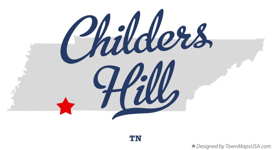 Map of Childers Hill Tennessee TN