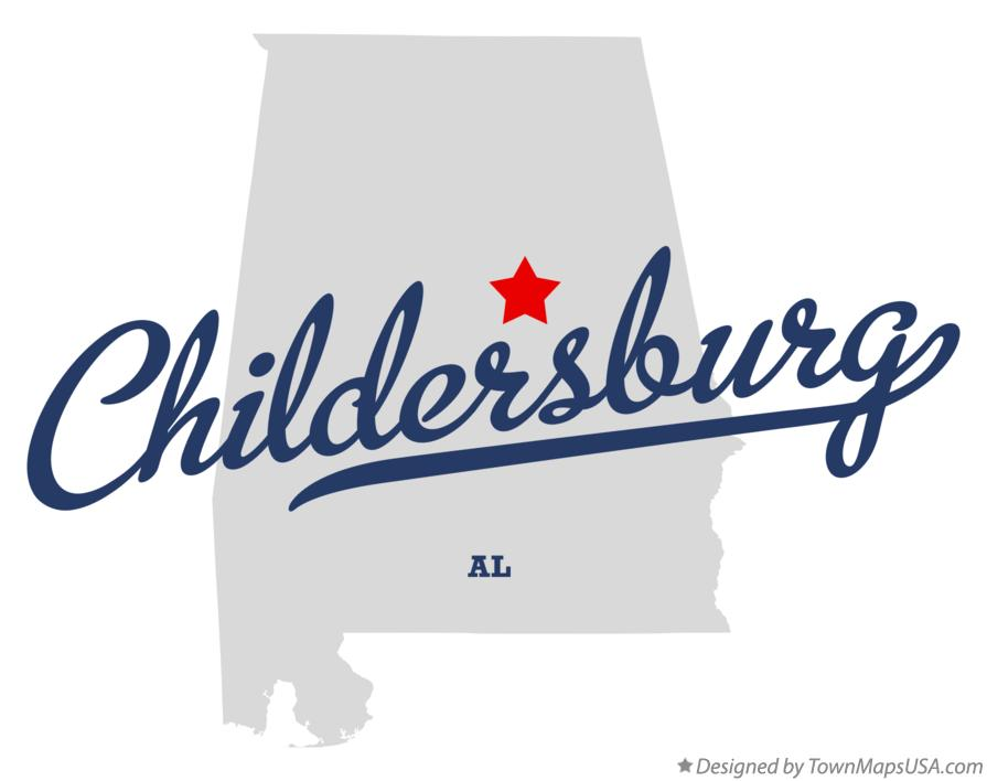Map of Childersburg Alabama AL