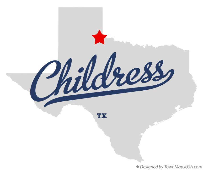 Map of Childress Texas TX