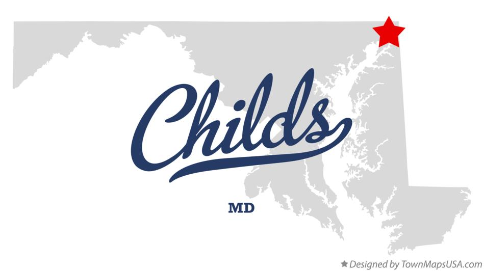 Map of Childs Maryland MD