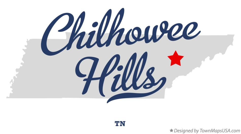Map of Chilhowee Hills Tennessee TN