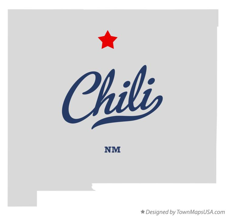 Map of Chili New Mexico NM