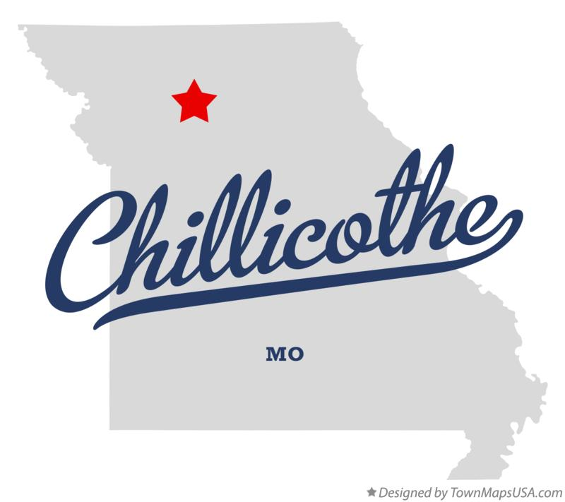 Map of Chillicothe Missouri MO