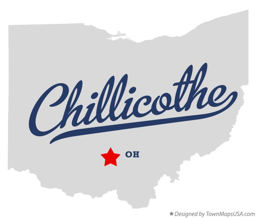 Map of Chillicothe Ohio OH