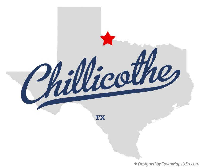 Map of Chillicothe Texas TX