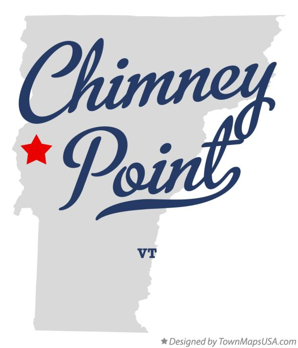 Map of Chimney Point Vermont VT