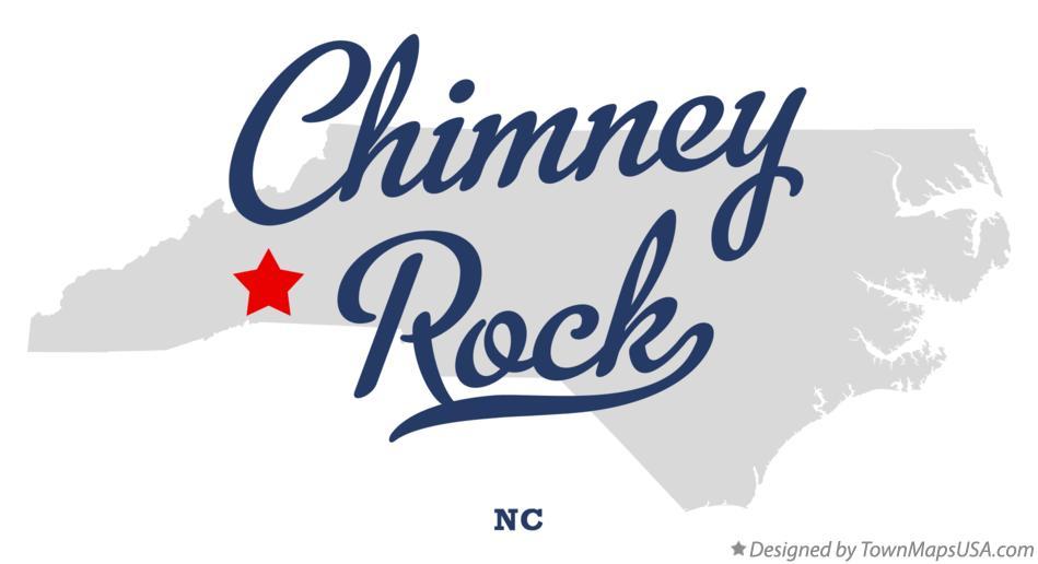 Map of Chimney Rock, NC, North Carolina Chimney Rock Nc Map on