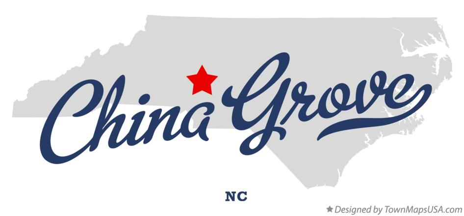 Map of China Grove North Carolina NC