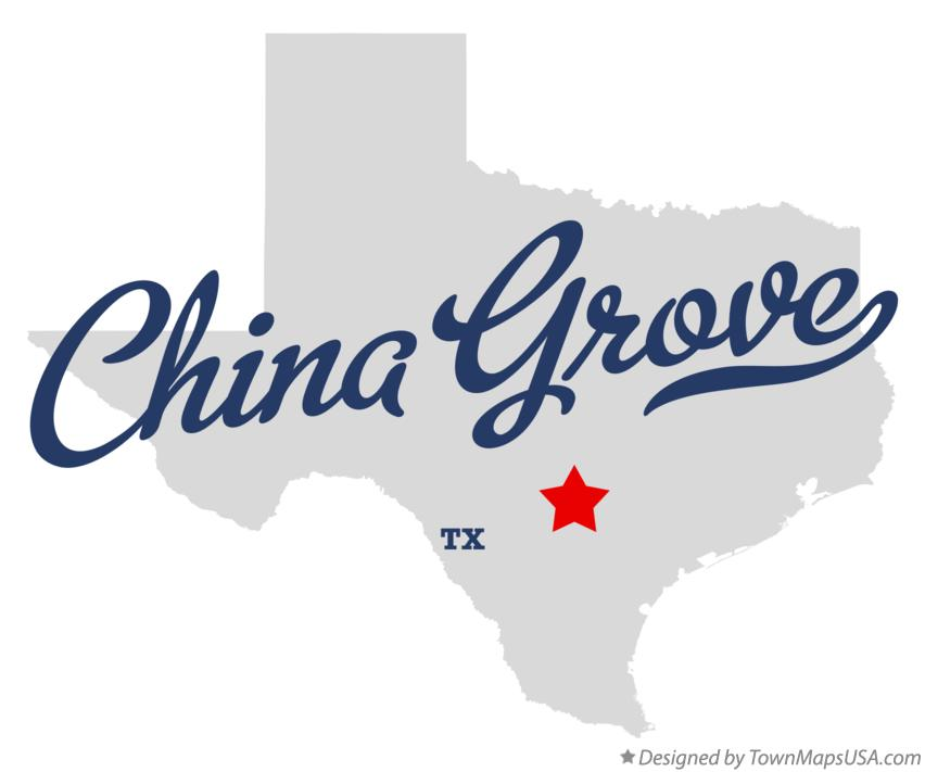 Map of China Grove Texas TX