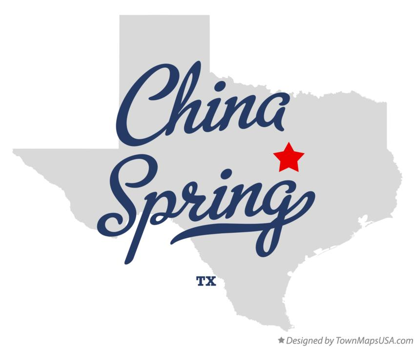 Map of China Spring Texas TX