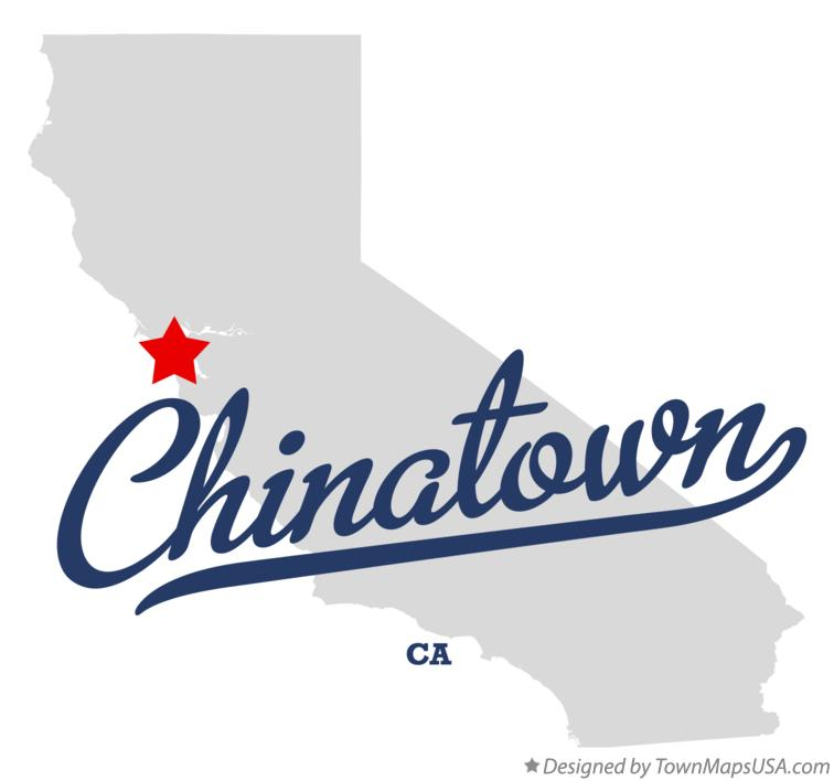 Map of Chinatown California CA