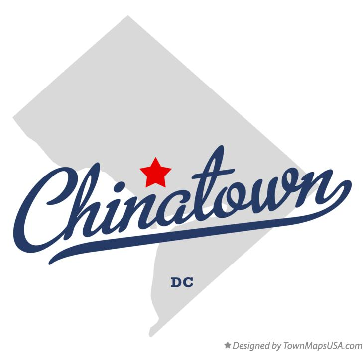 Map of Chinatown District Of Columbia DC