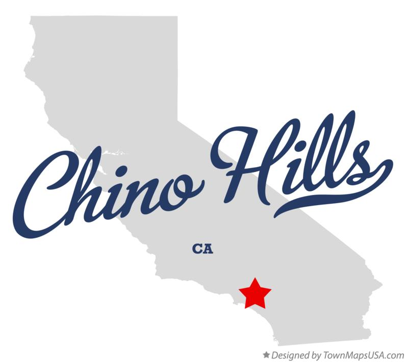 Map of Chino Hills California CA