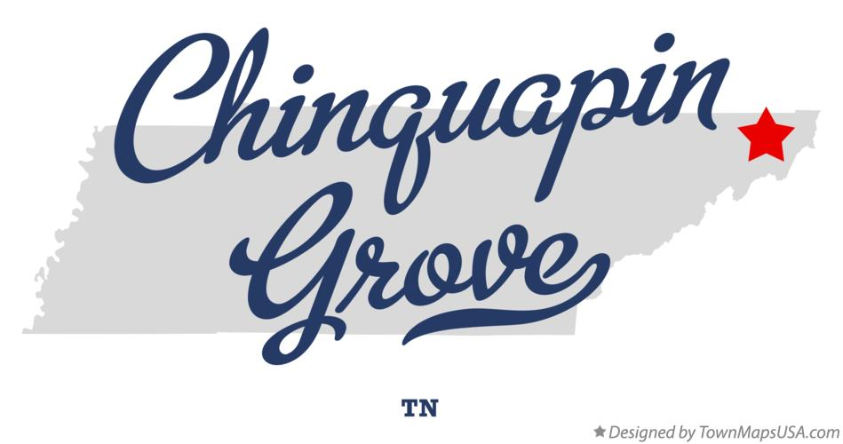 Map of Chinquapin Grove Tennessee TN