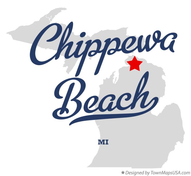 Map of Chippewa Beach Michigan MI