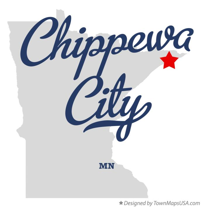 Map of Chippewa City Minnesota MN