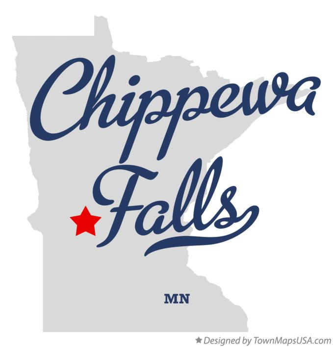 Map of Chippewa Falls Minnesota MN