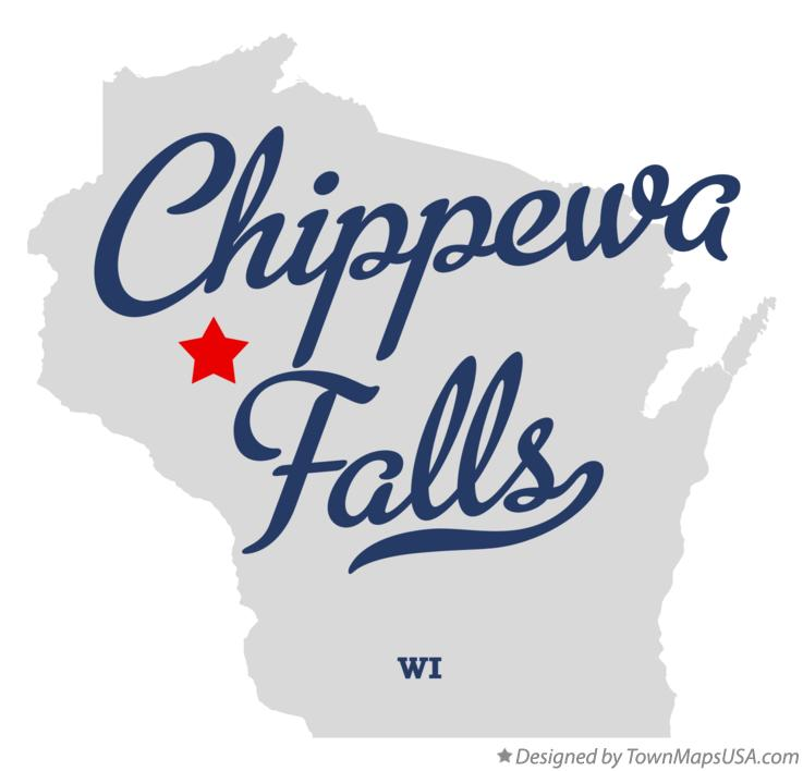 Map of Chippewa Falls Wisconsin WI