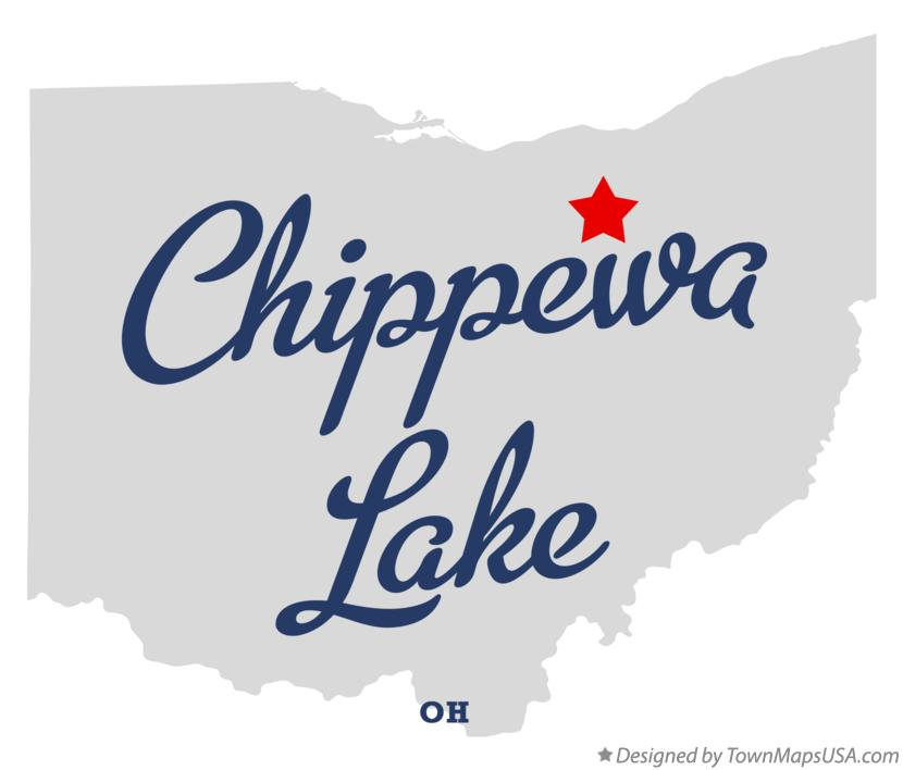 Map of Chippewa Lake Ohio OH