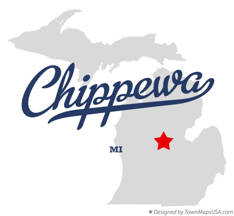Map of Chippewa Michigan MI