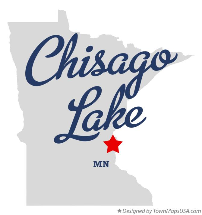 Map of Chisago Lake Minnesota MN
