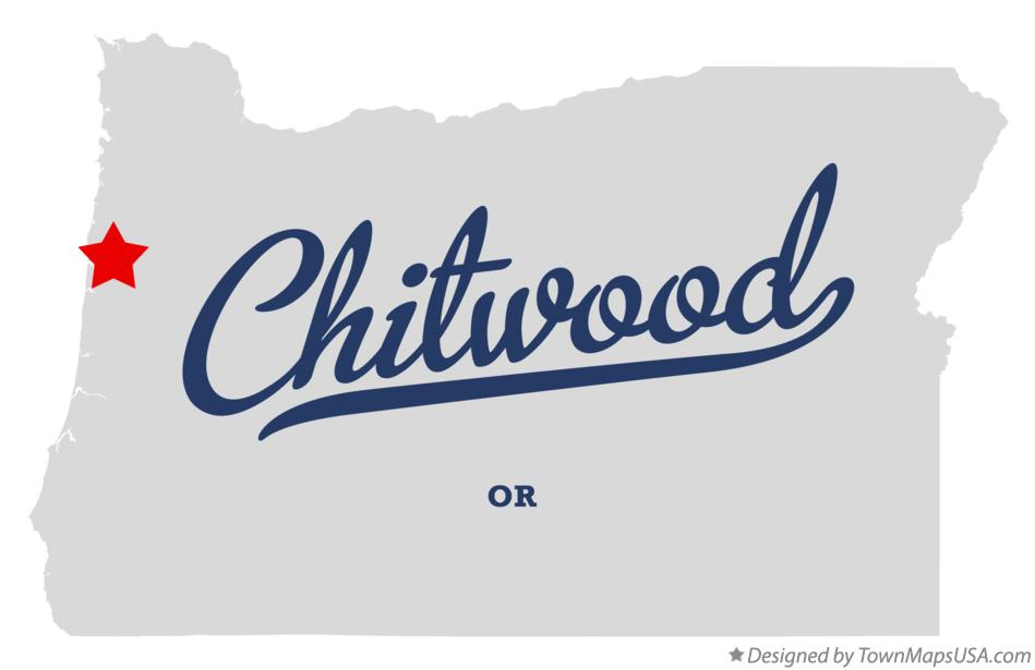 Map of Chitwood Oregon OR