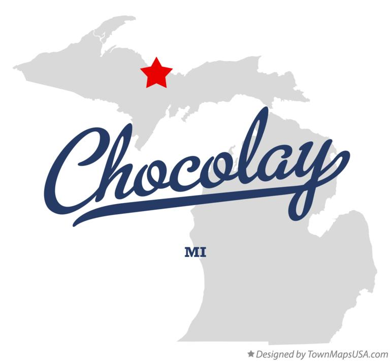 Map of Chocolay Michigan MI