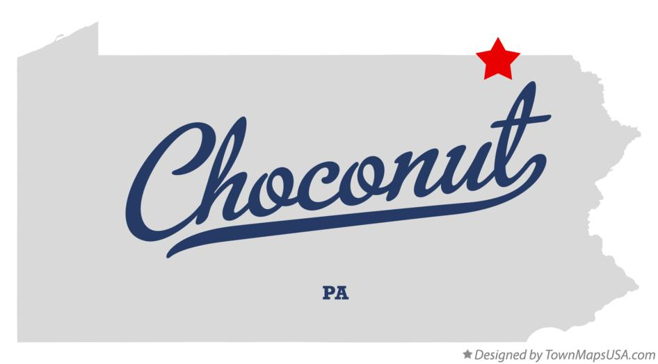Map of Choconut Pennsylvania PA