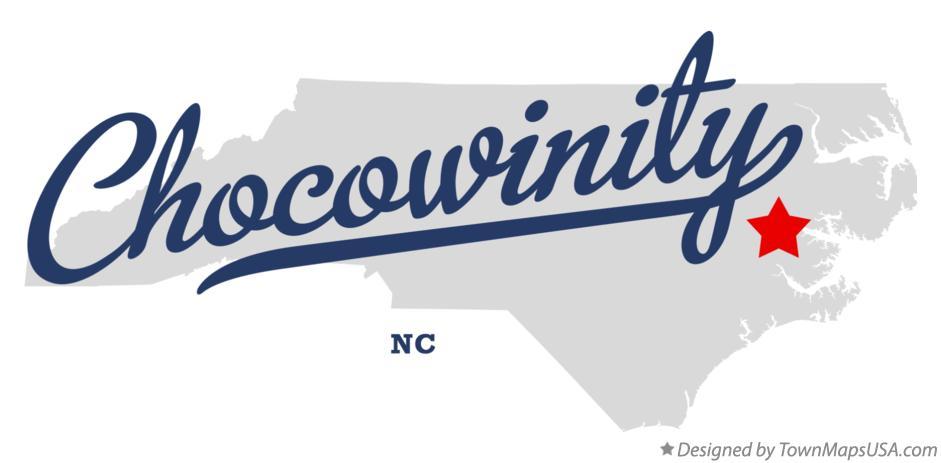 Map of Chocowinity, NC, North Carolina