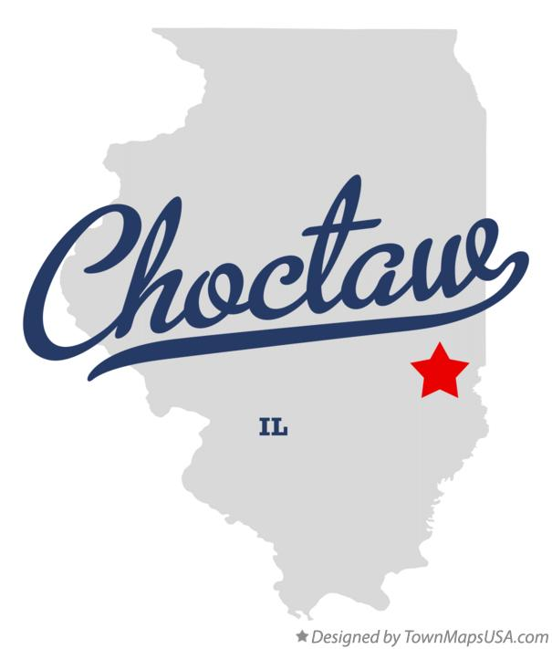 Map of Choctaw Illinois IL