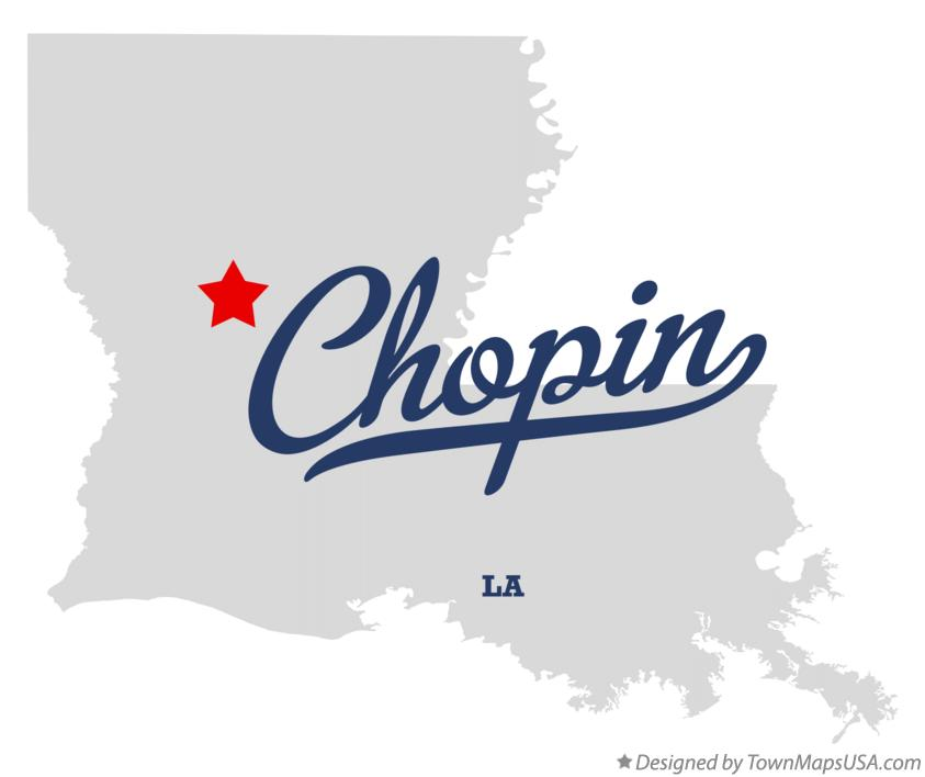 Map of Chopin Louisiana LA