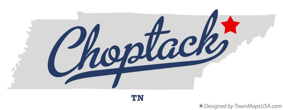 Map of Choptack Tennessee TN