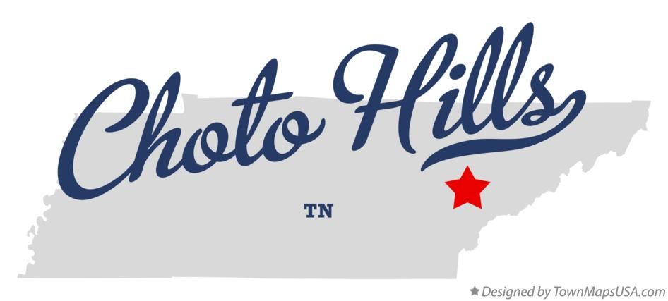 Map of Choto Hills Tennessee TN