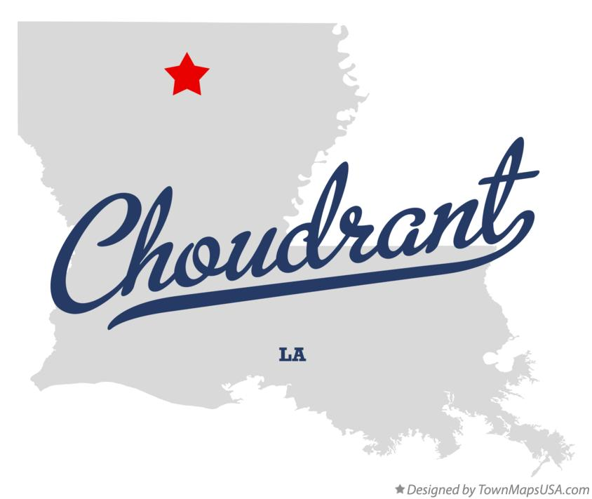 Map of Choudrant Louisiana LA
