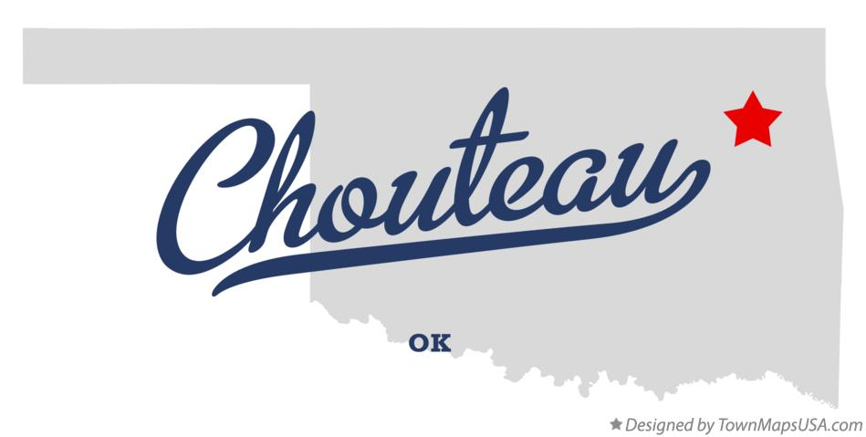 Map of Chouteau Oklahoma OK