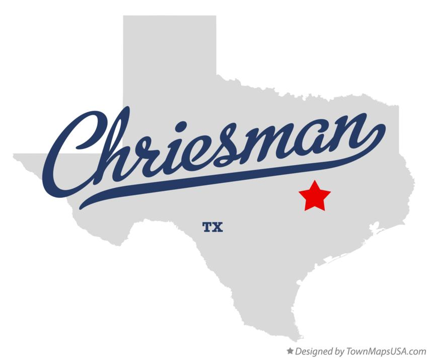 Map of Chriesman Texas TX