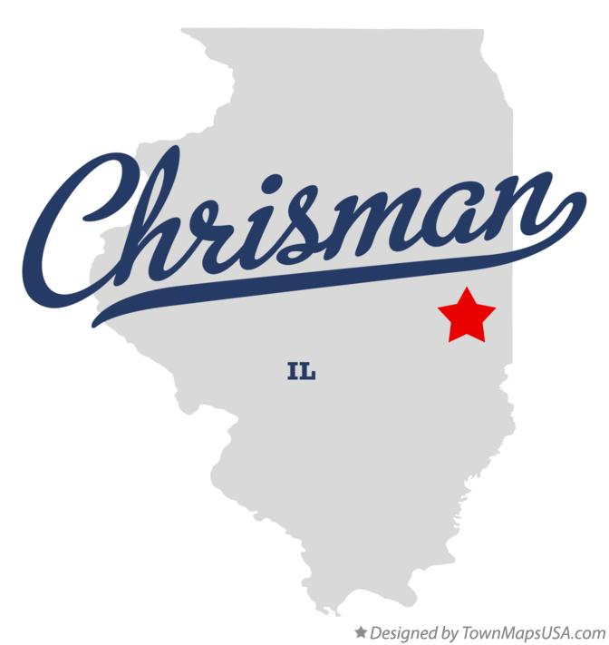 Map of Chrisman Illinois IL