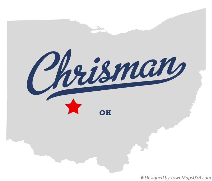 Map of Chrisman Ohio OH