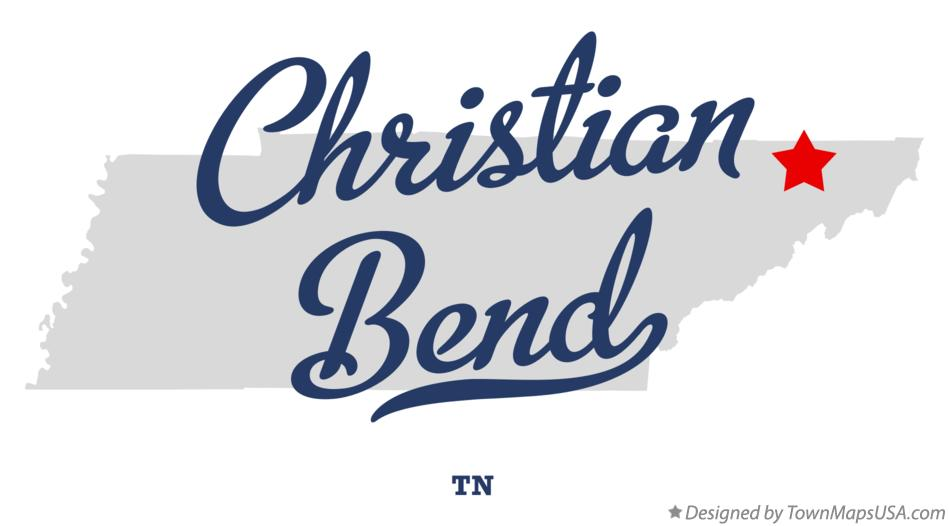 Map of Christian Bend Tennessee TN