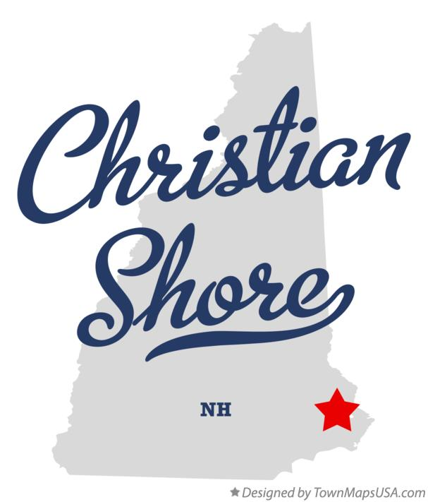 Map of Christian Shore New Hampshire NH