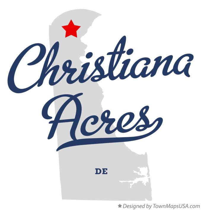 Map of Christiana Acres Delaware DE