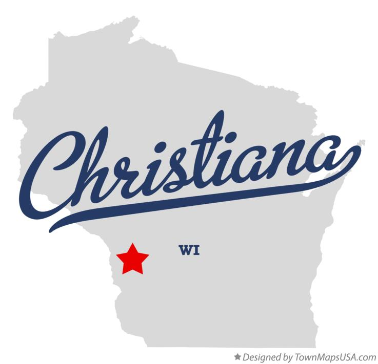 Map of Christiana Wisconsin WI