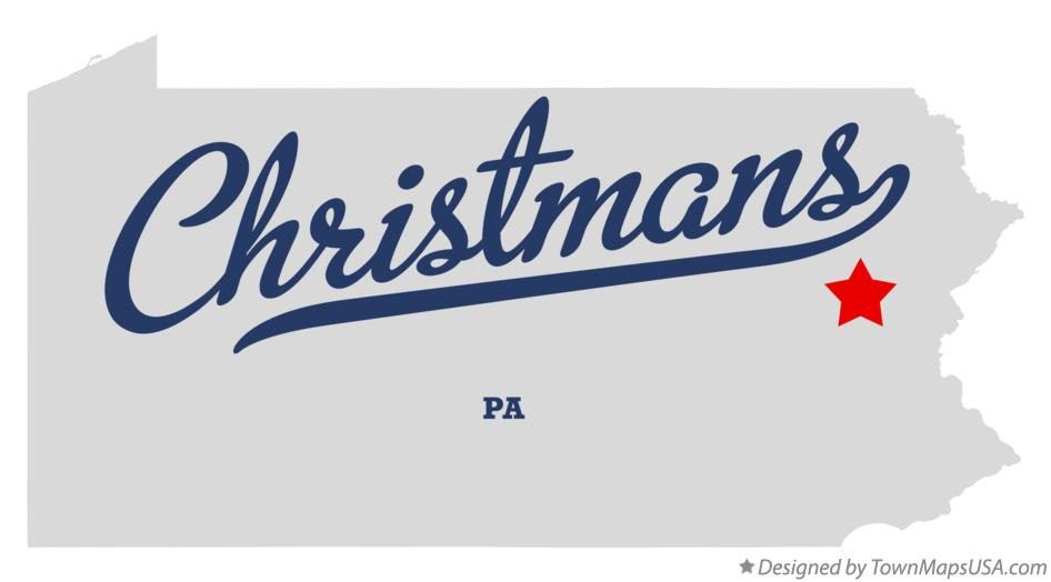Map of Christmans Pennsylvania PA