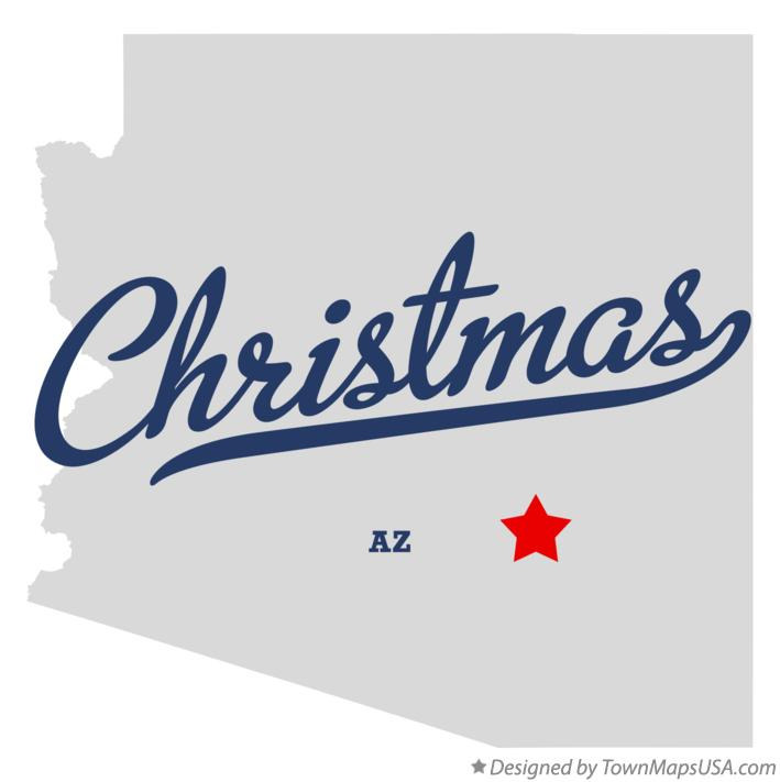 Map of Christmas Arizona AZ