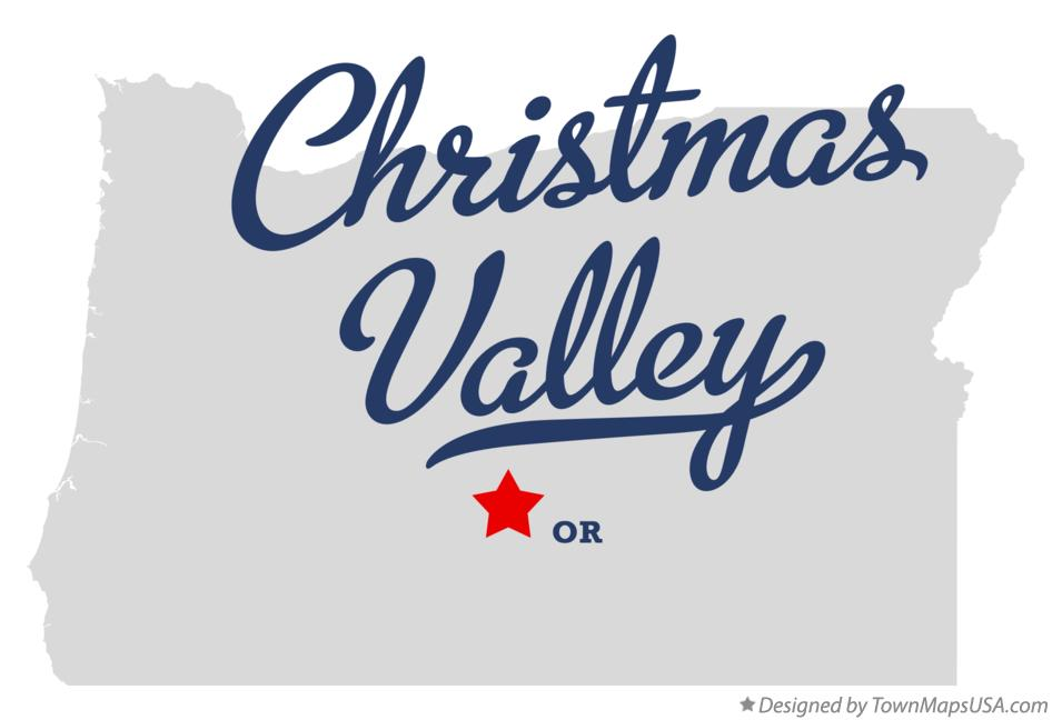 Map Of Christmas Valley Or Oregon