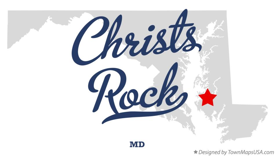 Map of Christs Rock Maryland MD